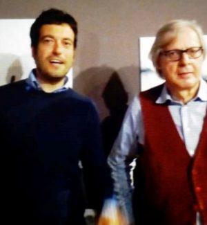 Daniele Rizzuti con Vittorio Sgarbi