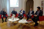 Nella foto Samuele Furfaro, Florindo Rubbettino, Domenico Menniti, Nuccio Caffo e Nereo Salerno