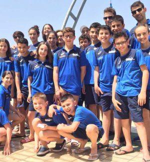 Gli atleti della Us Acli Arvalia Nuoto Lamezia