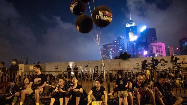 cina, corteo Hong Kong, proteste, Sicilia, Mondo