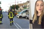 L'incidente e a destra Martina Carbonaro