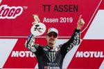 MotoGp, Vinales precede Marquez e trionfa ad Assen. Rossi cade e si ritira
