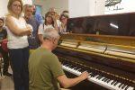 Inaugurato con un concerto il pianoforte donato al mercato Muricello a Messina