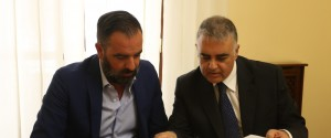 Rocco Arena e l'avvocato Carmelo Santoro