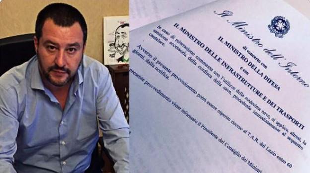 divieto di ingresso, migranti, Nuovo Decreto Sicurezza, sea watch 3, Matteo Salvini, Sicilia, Politica