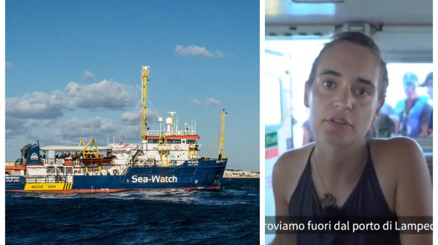 Sea Wacth, a destra Carola Rackete