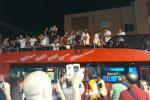 Il Trapani in serie B: le foto della festa per le vie della città