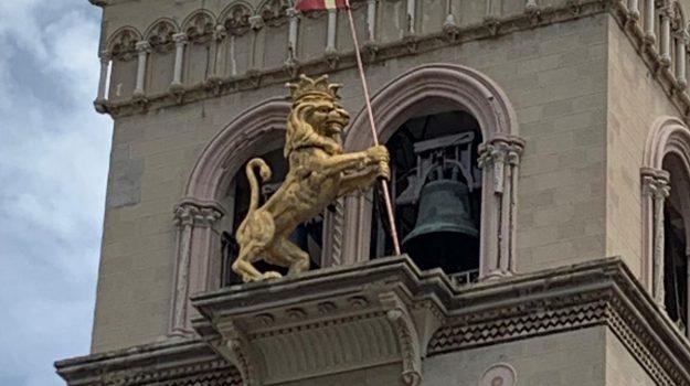 campanile duomo, duomo di messina, leone d'oro, Messina, Sicilia, Cronaca