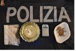 Cocaina, eroina e marijuana nascoste in casa: un arresto a Rombiolo