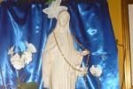 Lamezia Terme, la statua della Madonna Pellegrina con la corona del Rosario di Natuzza - Foto