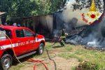 Incendio a Rende, fienili vanno in fiamme a Noggiano