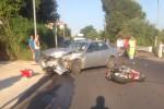 Incidente a Vibo: violento scontro tra auto e moto, ferito gravemente un operaio - Foto