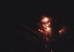La cicogna protegge i pulcini dopo che un fulmine ha colpito il nido Il volatile non si muove dal nido avvolto dalle fiamme - CorriereTV