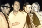 Luigi Magni, Alberto Sordi, Zeffirelli e Monica Vitti a Taormina