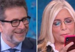 Mara Venier ospite da Fazio risponde in diretta a un messaggio di Lilli Gruber Il siparietto a «Che tempo che fa» - CorriereTV