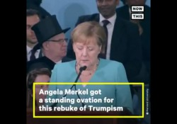 Merkel a Harvard attacca Trump senza nominarlo: «Tear down walls of ignorance» - CorriereTV