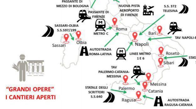 linea ferroviaria Messina Catania Palermo, ponte sullo stretto, sblocca cantieri, treni sicilia, Sicilia, Economia