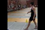 Scherma, allenamento super con il tiro a freccette