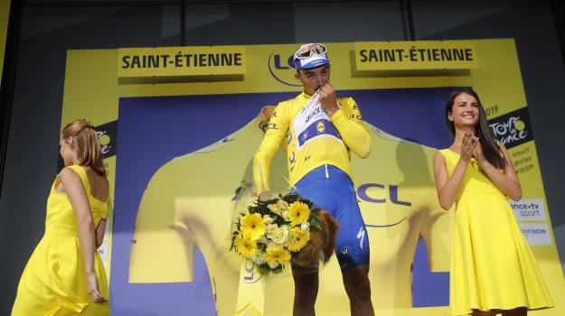 Alaphilippe maglia gialla, tour de france, Giulio Ciccone, Sicilia, Sport