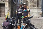 Da Milazzo a Londra in bicicletta, riuscito il viaggio benefico di un finanziere di Lipari