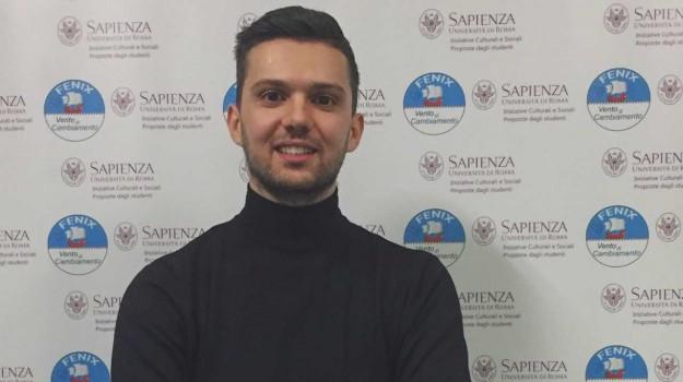 Collegio della Sapienza, primo eletto, studente di Vibo, Università La Sapienza, Cinzia Catanoso, Francesco Evolo, Catanzaro, Calabria, Società