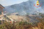 Incendio in un uliveto di Taverna, scene di panico tra gli abitanti