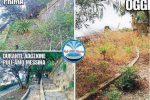 Degrado al Giardino di Montalto a Messina, le foto prima e dopo