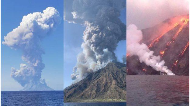 eruzione stromboli, stromboli, Massimo Imbesi, Messina, Sicilia, Cronaca