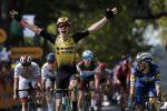 Tour de France, Van Aert brucia Viviani. Thomas e Bernal avanzano