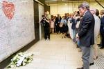 Sassoli rende omaggio alle vittime del terrorismo in Europa