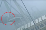 Il momento del crollo del Ponte Morandi
