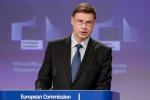 Dombrovskis, rallentamento preoccupa, chi può spenda