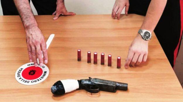 arresto messina, fucile canne mozze, Messina, Sicilia, Cronaca