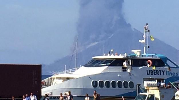 allerta tsunami, eruzione stromboli, Messina, Sicilia, Cronaca