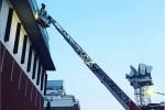 Incendio negli studi di La7, Mentana interrompe il tg