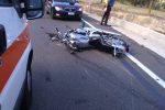 Scontro fra auto e moto a Cortale, ferito il centauro
