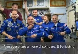 L'astronauta Luca Parmitano a bordo della Stazione Spaziale: «È fantastico» È entrato insieme ai suoi compagni di equipaggio, l'americano Andrew Morgan e il russo Alexander Skvortsov - Ansa