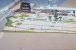 Il plastico presentato all'autorità portuale per illustrare la riqualificazione dell'area ex Sensi