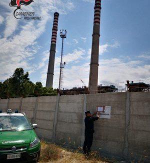Abuso edilizio a Corigliano Rossano, sequestrato un muro della centrale Enel