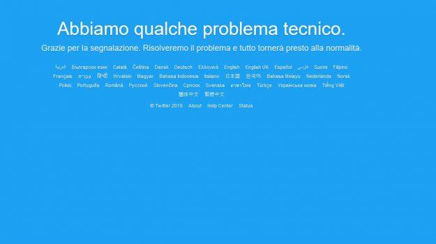twitter, twitterdown, Sicilia, Società