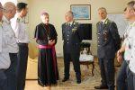 Lamezia, il vescovo Schillaci in visita alla guardia di finanza