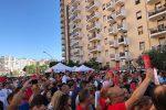 La folla in via D'Amelio a Palermo