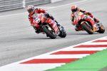 MotoGp, Dovizioso supera Marquez all'ultima curva e vince in Austria