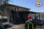 Incendio a San Marco Argentano, in fiamme un capannone per mezzi agricoli