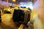 Incidente tra Rometta e Villafranca, un'auto si ribalta: traffico paralizzato