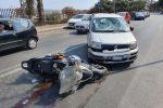 Scontro tra auto e moto a Messina, 33enne gravemente ferito a un braccio - Foto