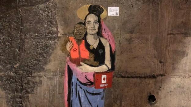 graffito Carola Rackete, graffito Taormina, Carola Rackete, Messina, Sicilia, Società