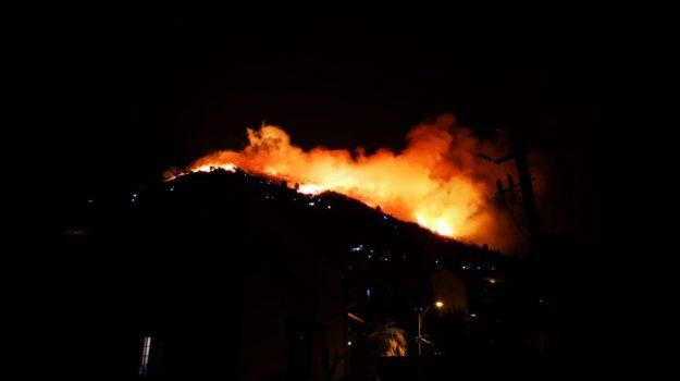incendio, monreale, san martino delle scale, Sicilia, Cronaca