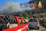 Incendio sulla collinadiCopanello, apprensione per le montagne vicine