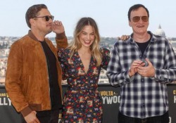 Di Caprio, Tarantino e Margot Robbie presentano «C'era una volta a... Hollywood». Il videoracconto La prima italiana di 'C'era una volta a... Hollywood' al cinema Adriano di Roma - Agenzia Vista/Alexander Jakhnagiev